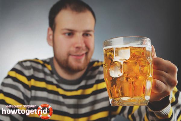 Когда можно пить пиво после тренировки