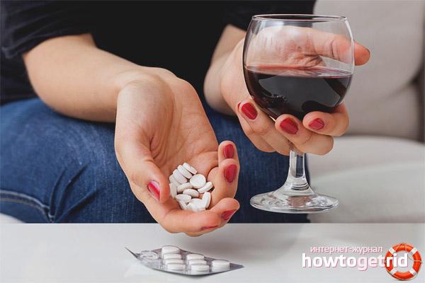 Применение аспирина при борьбе с похмельем