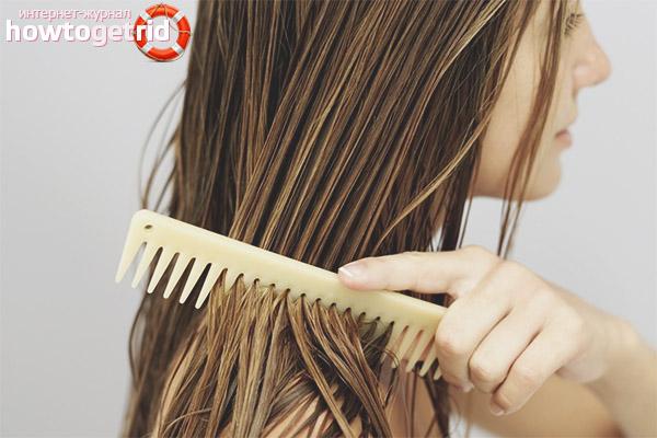 Расчёсывание мокрых волос без вреда