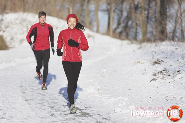 Бег в зимнее время