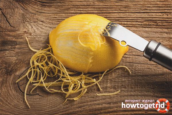 Использование цедры лимона