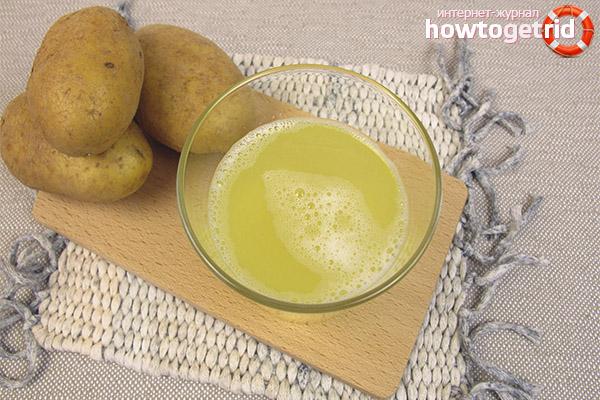 Картофельный сок для желудка