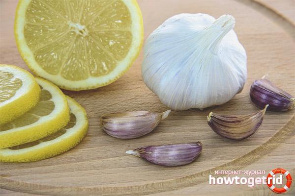 Лимон с чесноком для чистки сосудов