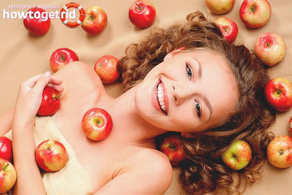 Маски для волос из яблок