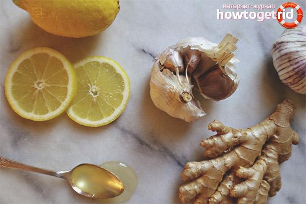 Отвар из лимона, чеснока и имбиря