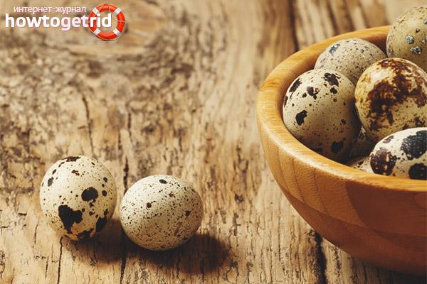 Полезный состав перепелиных яиц