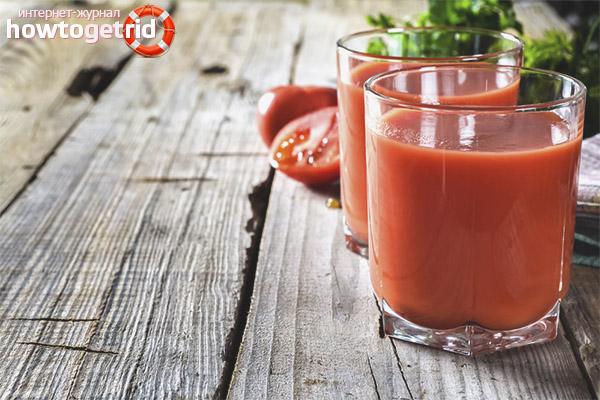 Применение томатного сока при похудении