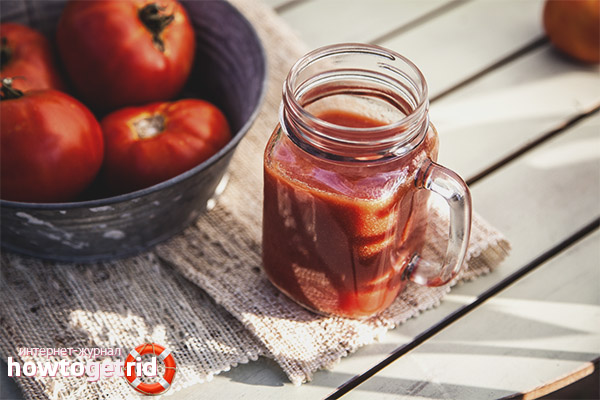 Рецепты сока из томатов