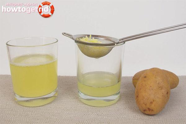 Способ приготовления картофельного сока