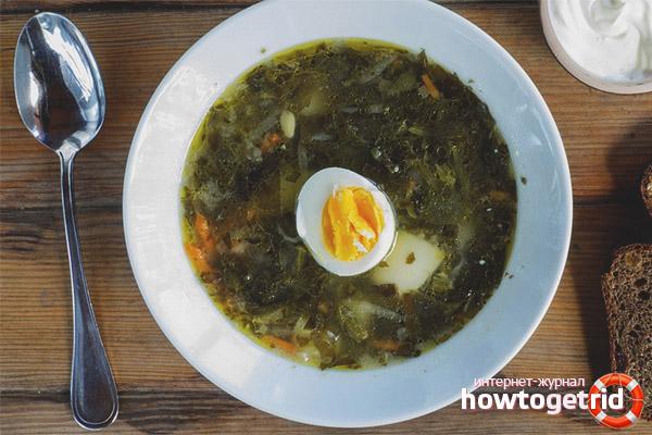 Суп с яйцом и щавелем по традиционной технологии