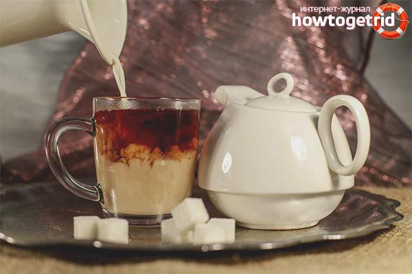 Вкусные рецепты чая с молоком