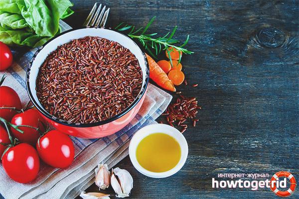 Вкусные рецепты с красным рисом