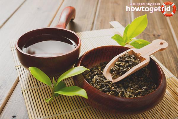 Зеленый чай для лица