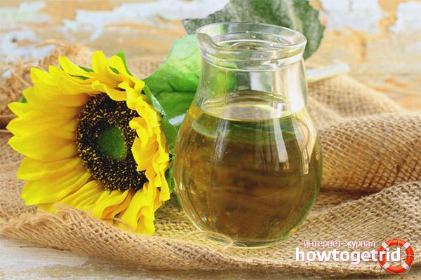 Польза подсолнечного масла масла в лечебных целях
