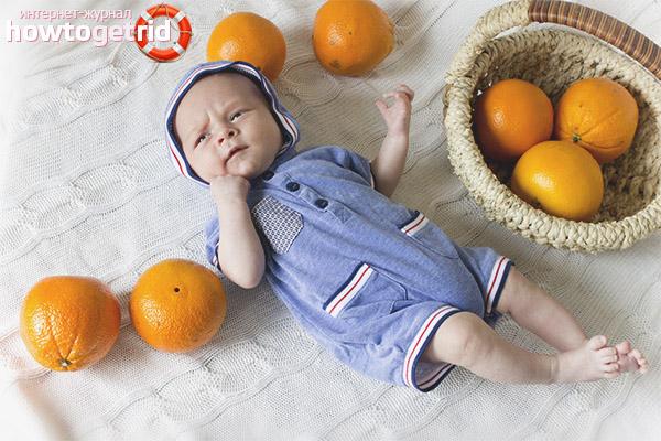 Симптомы аллергии на апельсины у детей