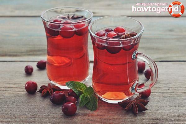 Как приготовить чай из клюквы