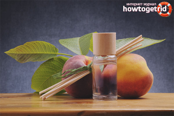 Правила использования персикового масла