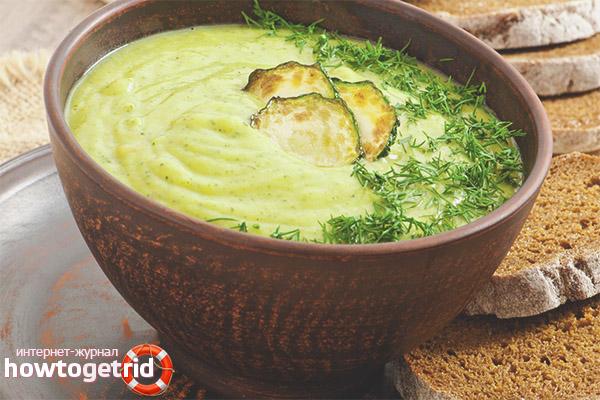 Рецепты супа-пюре из кабачков