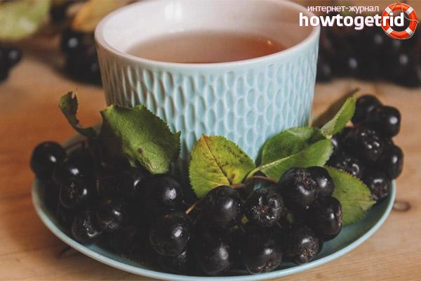 Рецепты чая из черноплодной рябины