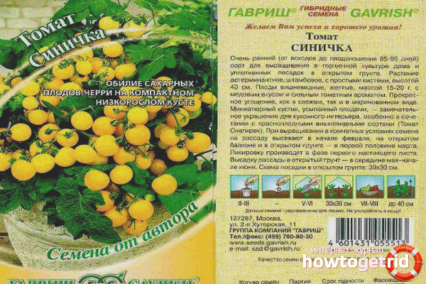 Выращивание томатов Синичка