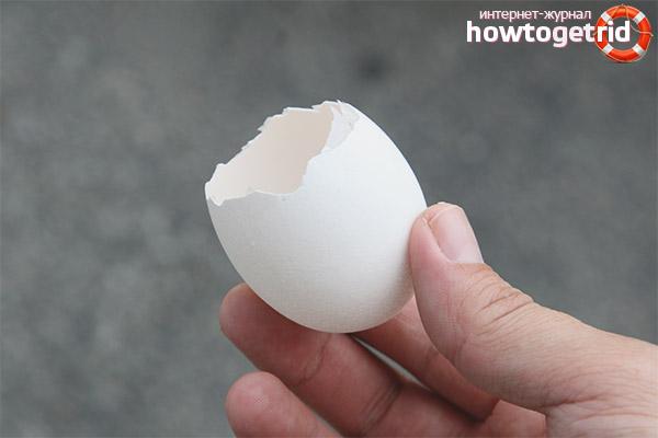 Как приготовить яичную скорлупу