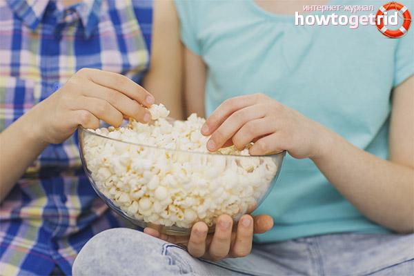 Особенности введения попкорна в детский рацион