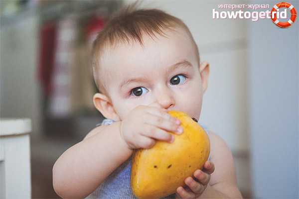 Введение манго в рацион ребенка