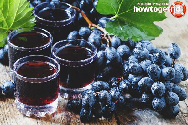 Виноградный сок для детей