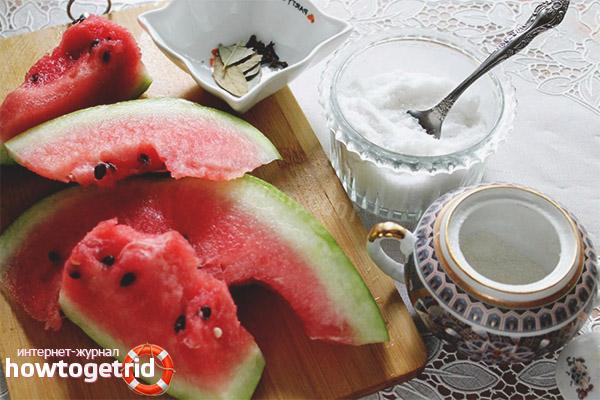 Классический рецепт маринованных арбузов