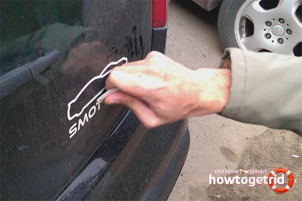 Как убрать следы скотча с автомобиля