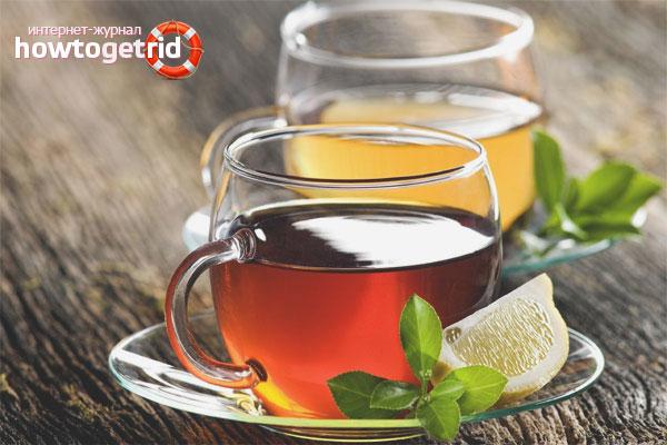 Целебные напитки от головной боли