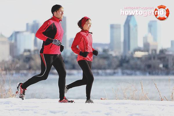 Как правильно бегать зимой на улице