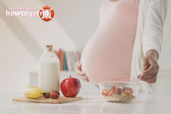 Правильное питание в третьем триместре беременности