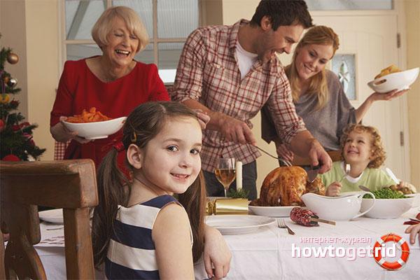 Развлечения для семейного застолья