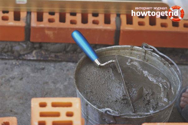 Технология замешивания раствора для кирпичной кладки