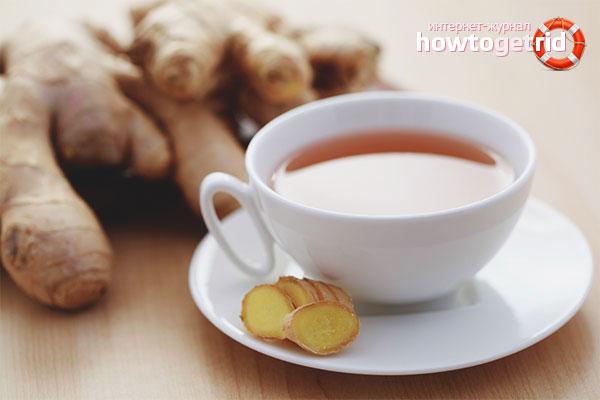 Чай из имбиря от головокружения