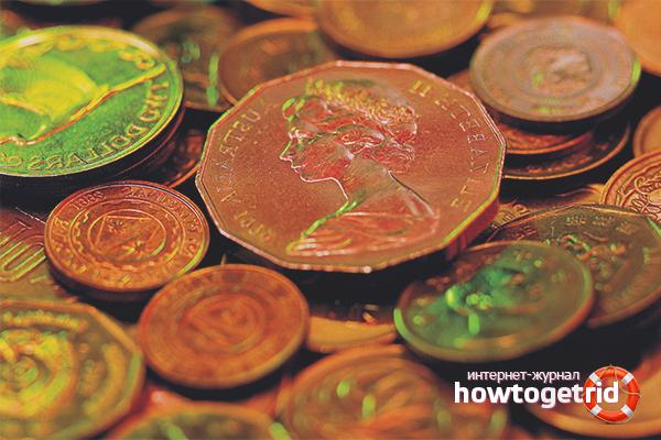 Как чистить медные монеты