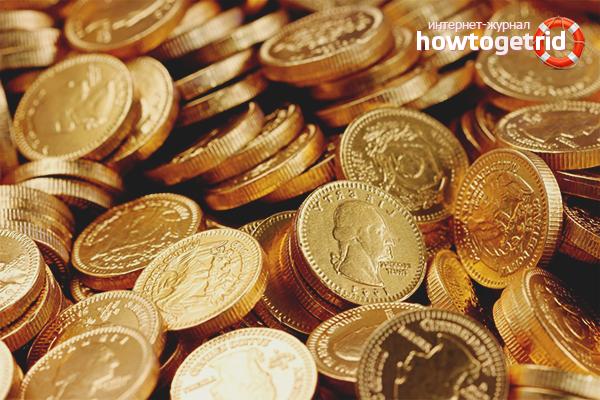 Как чистить монеты из золота