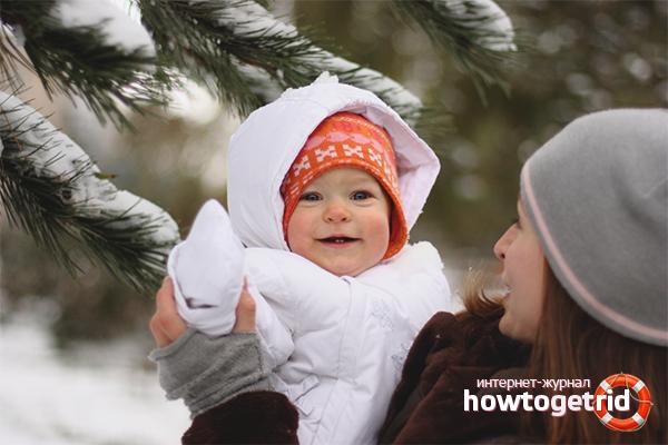 Как гулять с новорожденным зимой