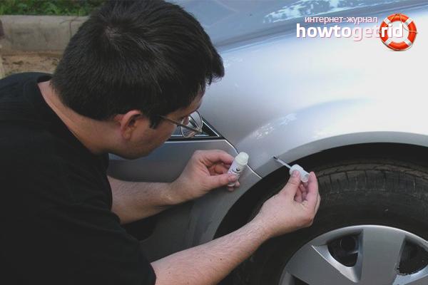 Как закрасить сколы на машине