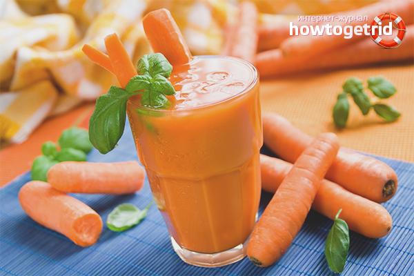 Лечение панкреатита морковным соком