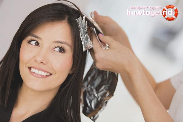 Окраска нарощенных волос
