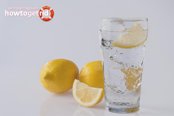 Вода с лимоном для вывода никотина