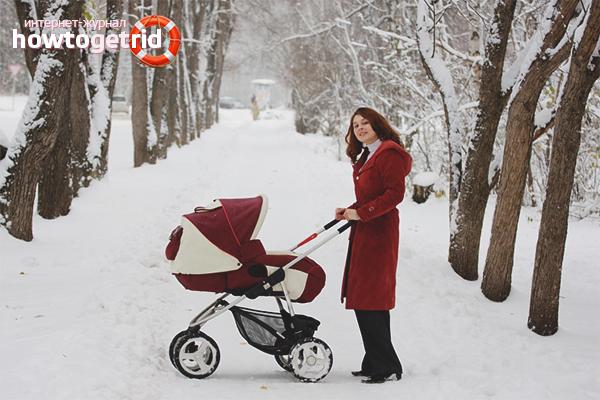 Зимние прогулки с новорожденным