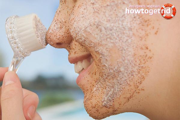 Домашние скрабы для жирной кожи лица
