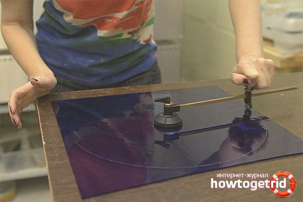 Как вырезать круг из стекла