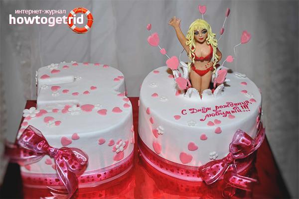 Необычный торт для мужа