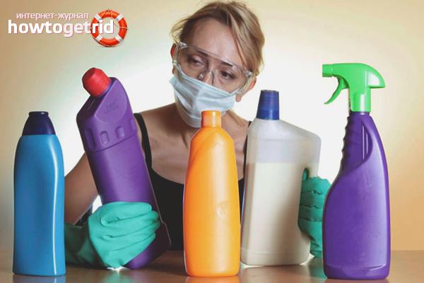 Прочистка труб химическими препаратами