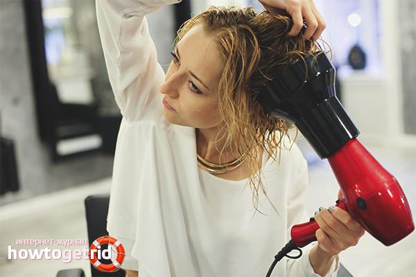 Как накрутить волосы феном