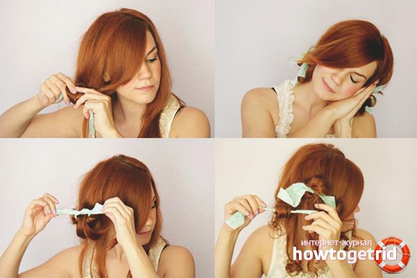 Как накрутить волосы на тряпочки